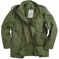 Alpha mjm24000c1 / M-65 Field Jacket Olive Green  (WITH LINER)