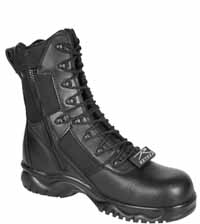 Rothco 5063  8 Inch Forced Entry Composite Toe Side Zip Tactical Boot - Black