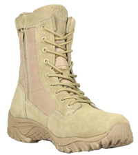 """Smith & Wesson  SW8TZ Suede Tactical Zipper Boot 8"""" Tan Leather & Nylon Upper"""